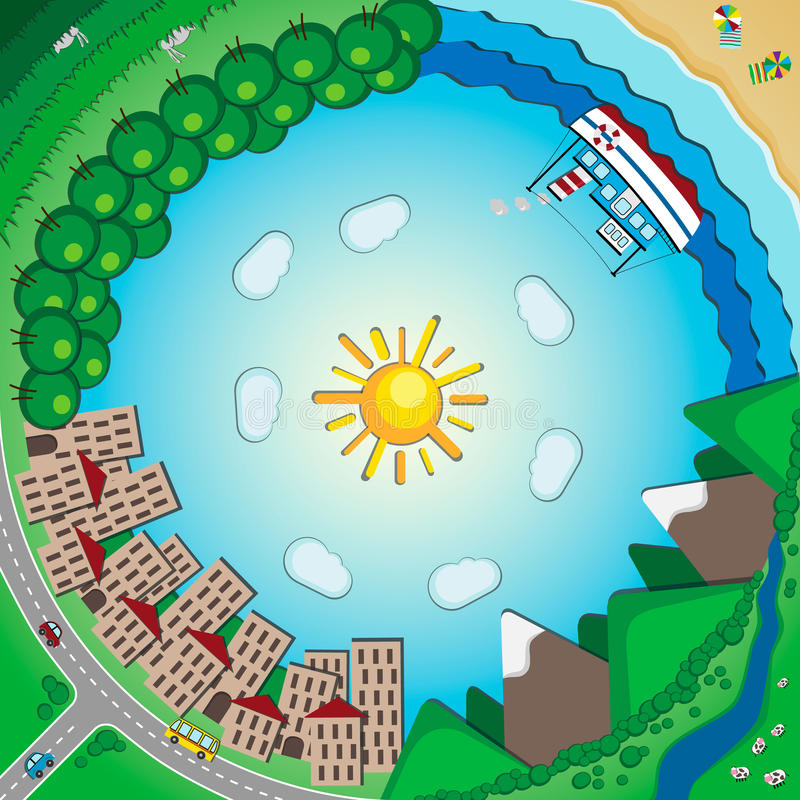 Planeet binnen Oneindigheid binnen stock illustratie