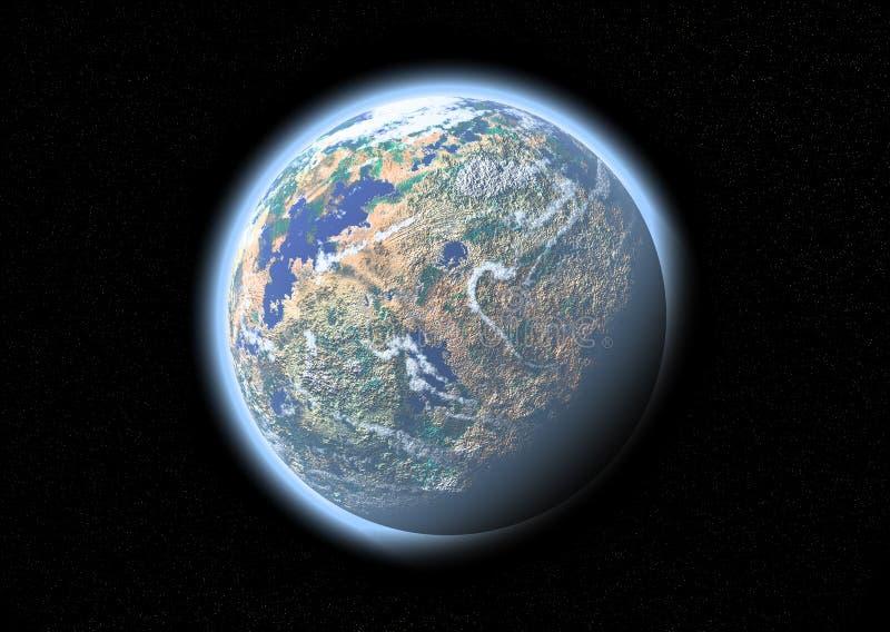 Planeet in de ruimte vector illustratie