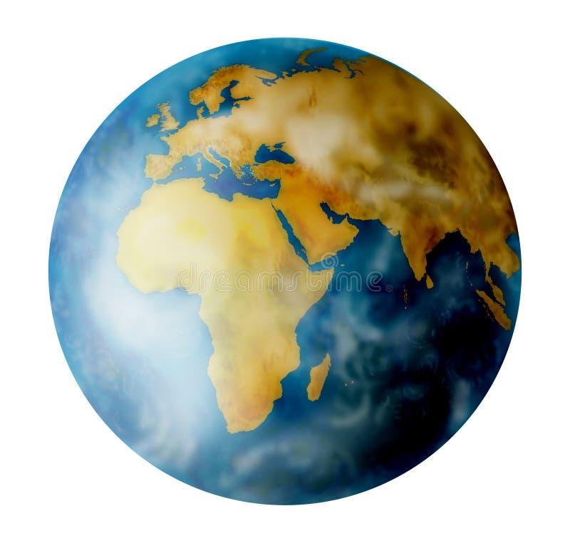 Planeet earht op wit stock illustratie