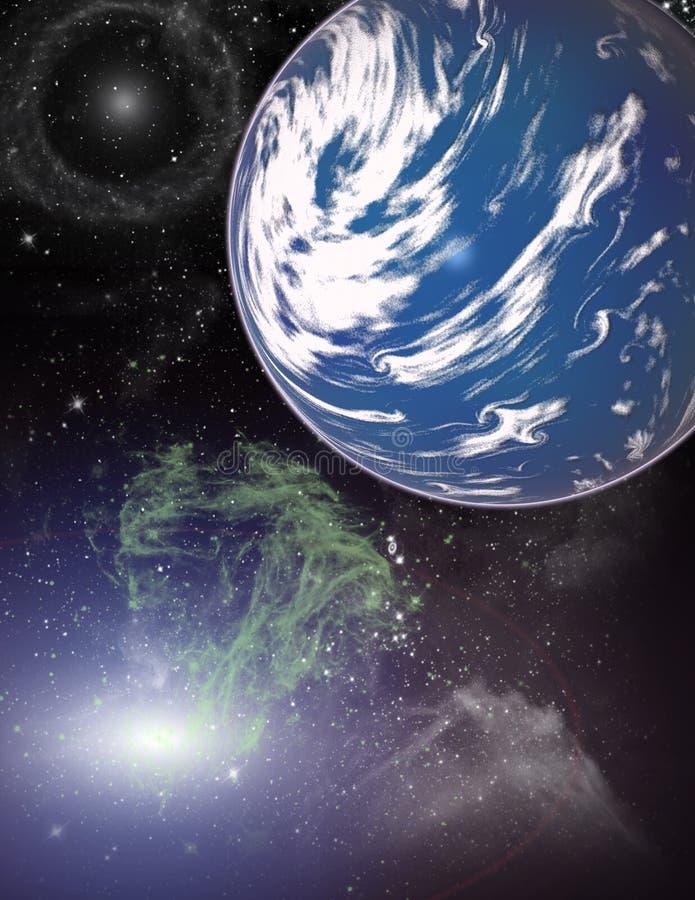 Planeet in een ruimte.