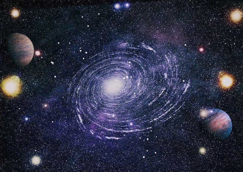 Planeet - Elementen van dit die Beeld door NASA wordt geleverd stock fotografie