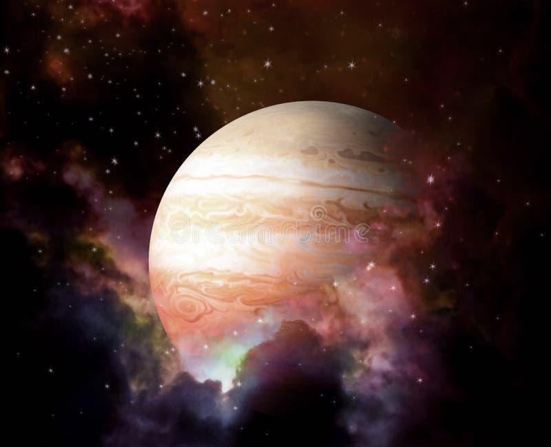 Planeet en Nevel - Elementen van dit die beeld door NASA wordt geleverd royalty-vrije stock afbeeldingen