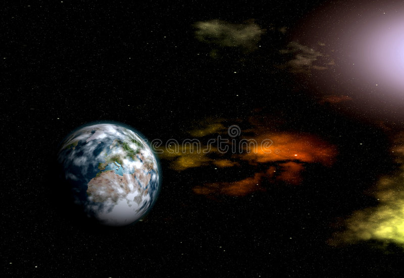 Planeet in Heelal stock illustratie