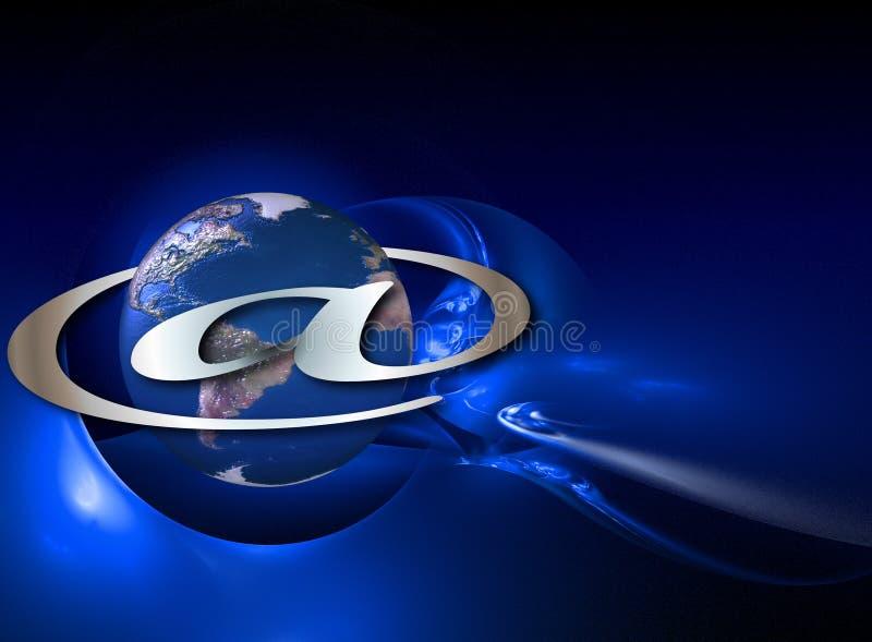 Planeet Internet vector illustratie
