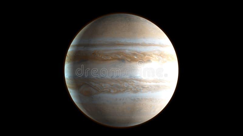 Planeet Jupiter in de kosmische ruimte het 3d teruggeven stock illustratie