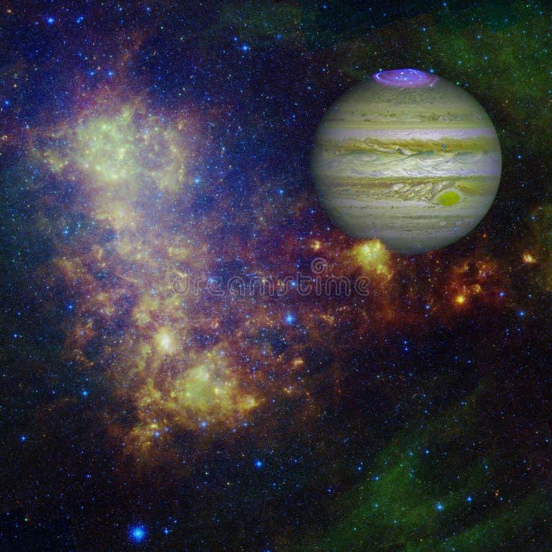 Planeet Jupiter Elementen van dit die beeld door NASA wordt geleverd royalty-vrije stock fotografie
