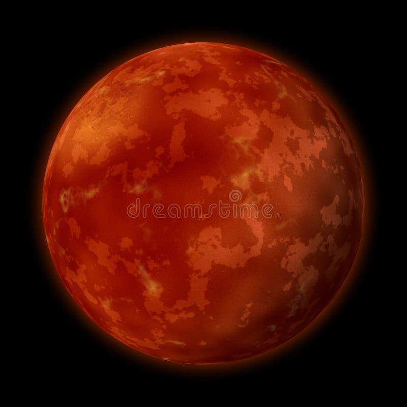 Planeet Mars stock illustratie