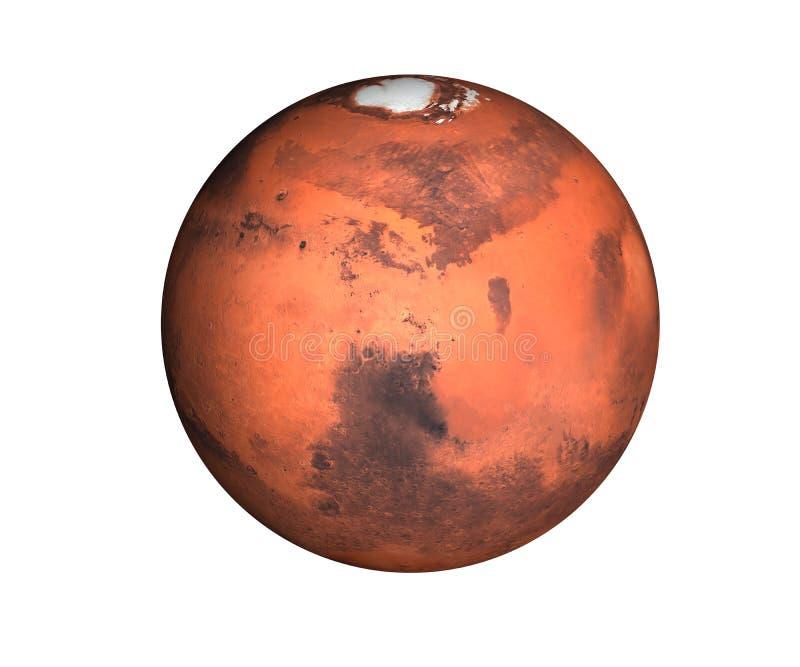 Planeet Mars van geïsoleerd zonnestelsel royalty-vrije illustratie