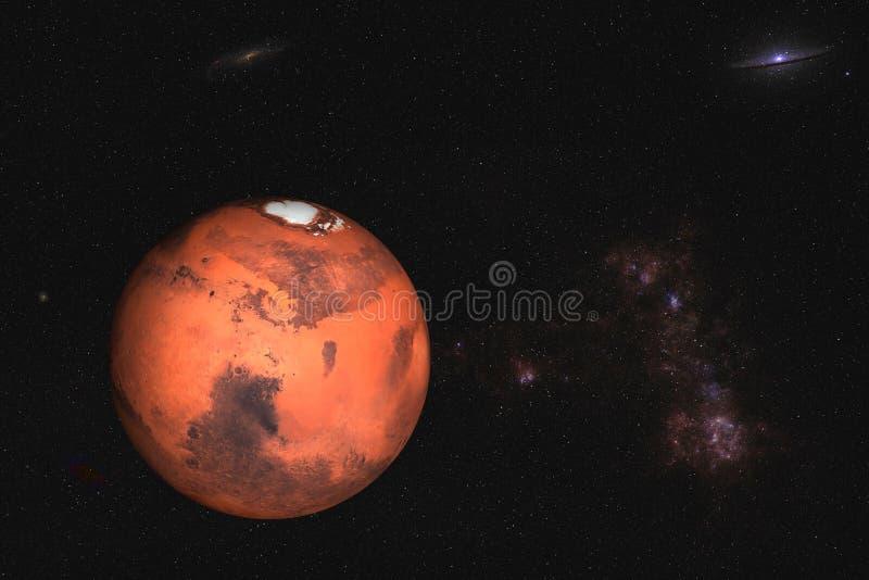 Planeet Mars van zonnestelsel royalty-vrije stock foto's