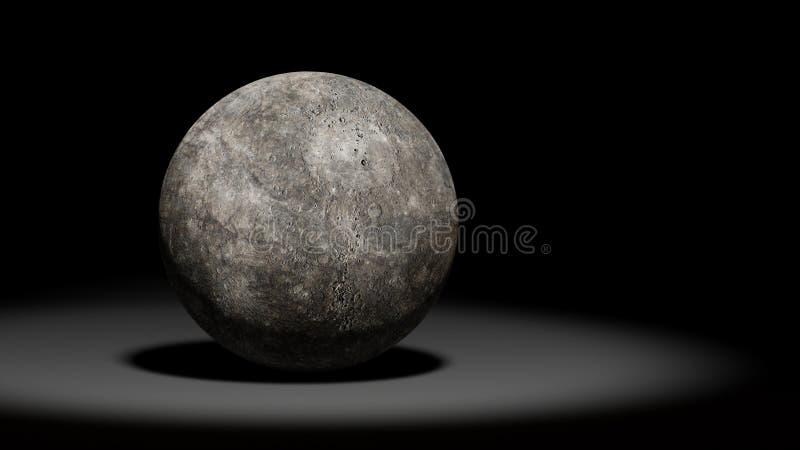 Planeet Mercury, zonnestelselreeks royalty-vrije illustratie