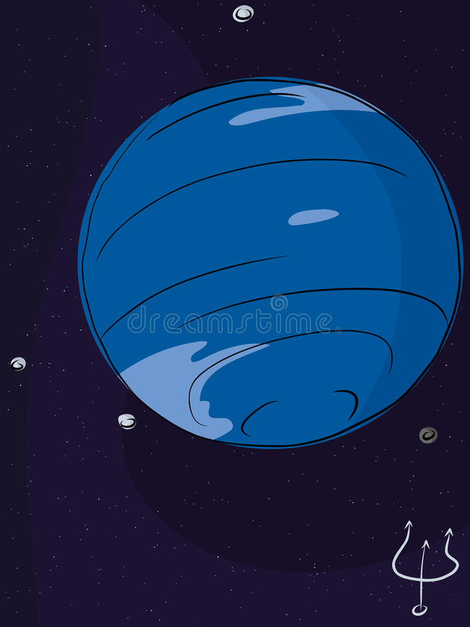 Planeet Neptunus stock illustratie