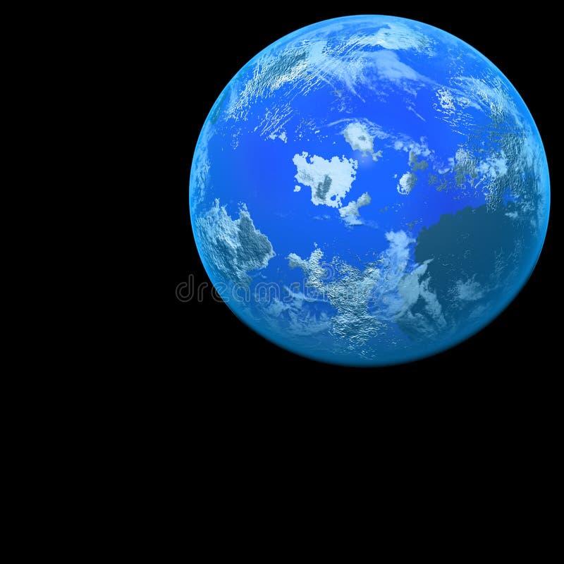 Planeet op zwarte vector illustratie