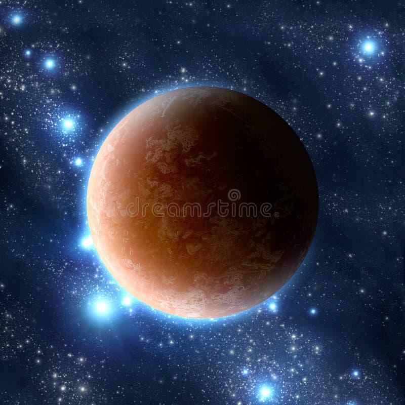 Planeet in ruimte stock afbeelding