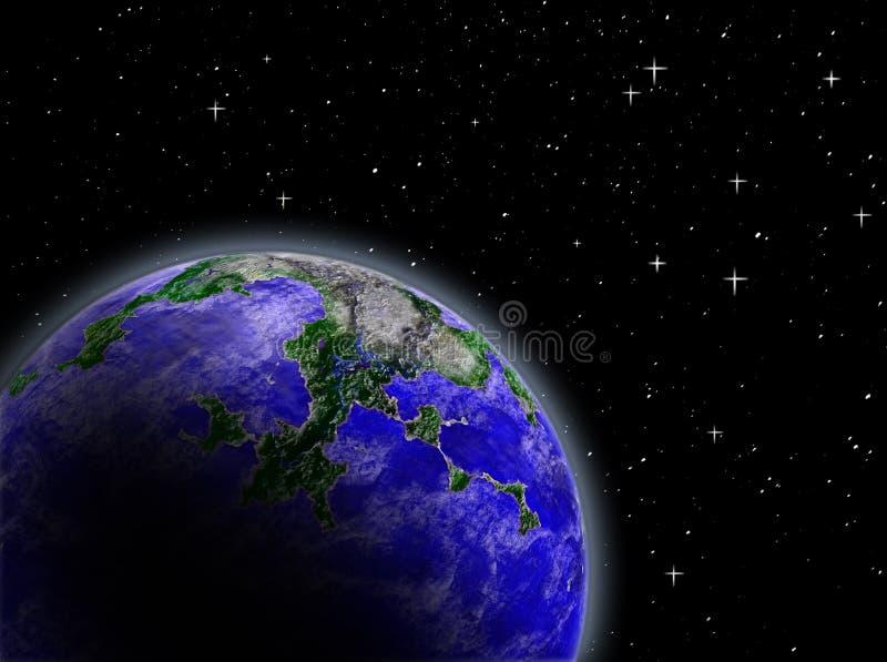 Planeet in ruimte stock fotografie