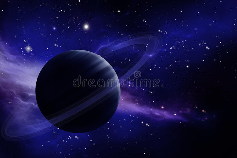 Planeet in ruimte stock illustratie