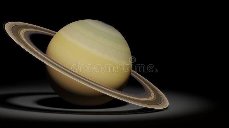 Planeet Saturn, de ringsplaneet, zonnestelselreeks royalty-vrije illustratie