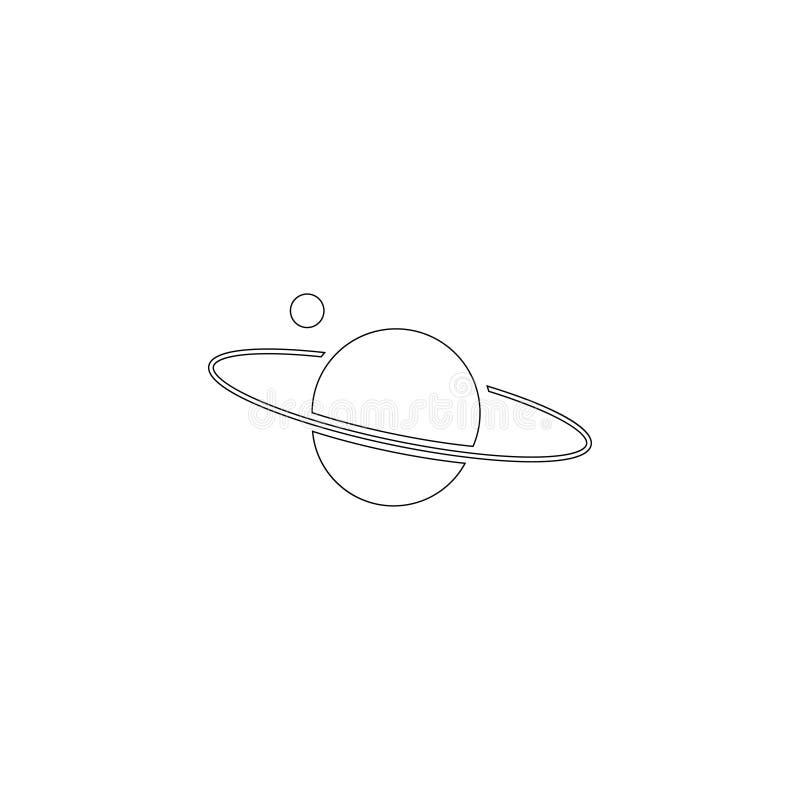 Planeet Saturn Vlak vectorpictogram stock illustratie