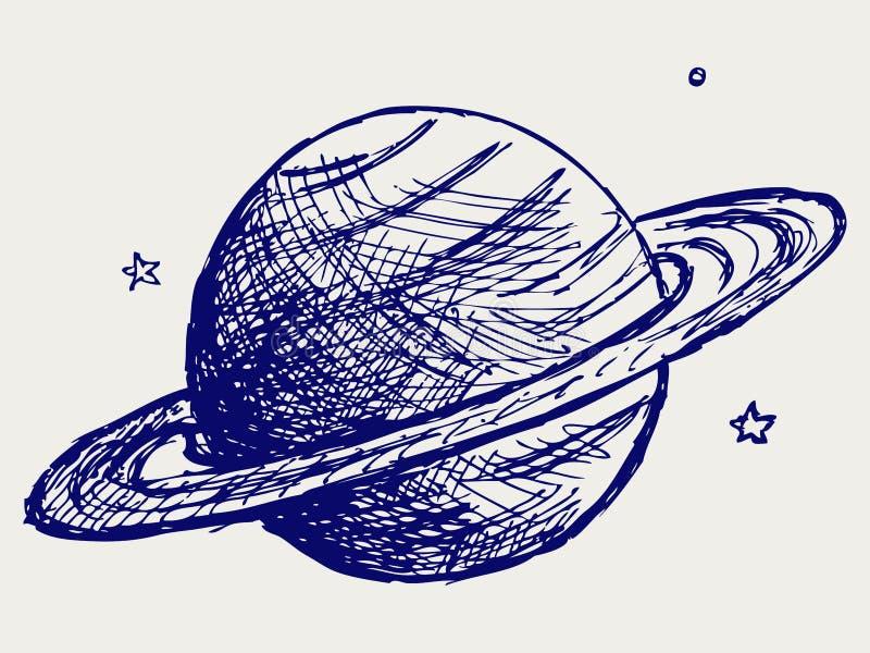 Planeet Saturnus vector illustratie