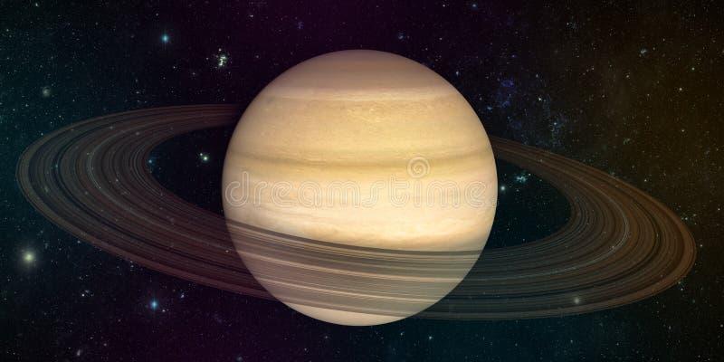 Planeet Saturnus met ringen stock illustratie