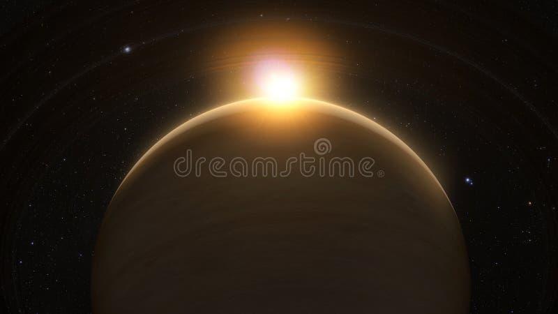 Planeet Saturnus met ringen vector illustratie
