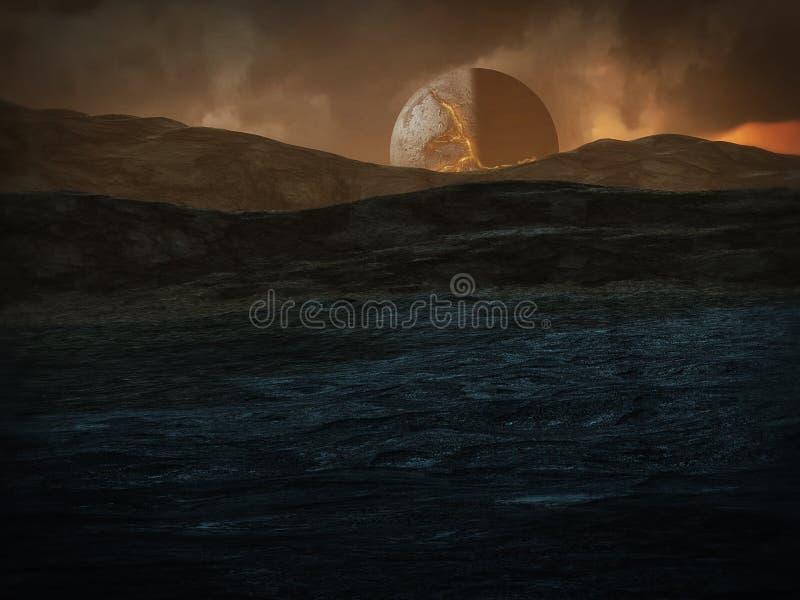 Planeet Sonhadra vector illustratie