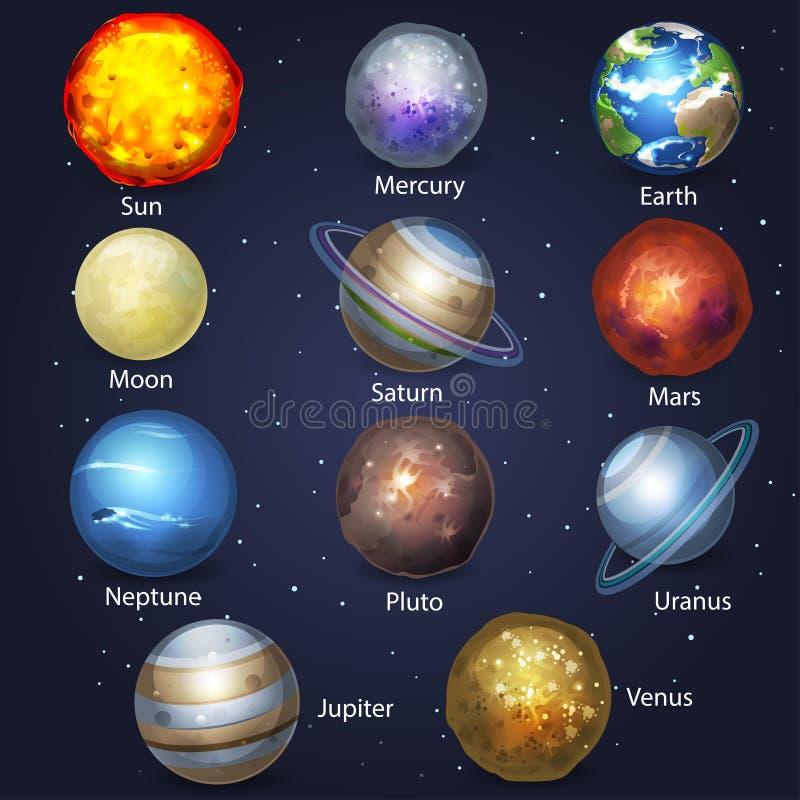Planeetreeks 2 stock illustratie