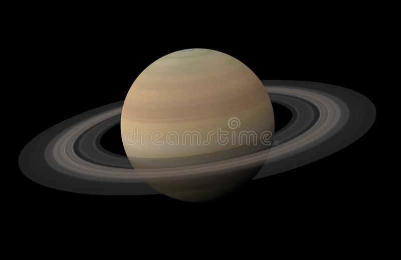 Planeetsaturn Geïsoleerde Elementen van dit die beeld door NASA wordt geleverd vector illustratie