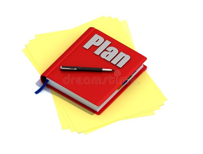 Planeie o trabalho ilustração do vetor