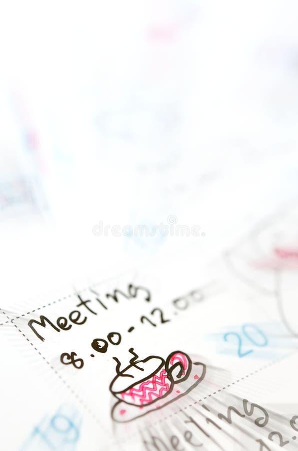 Planejador da agenda a tempo imagens de stock royalty free