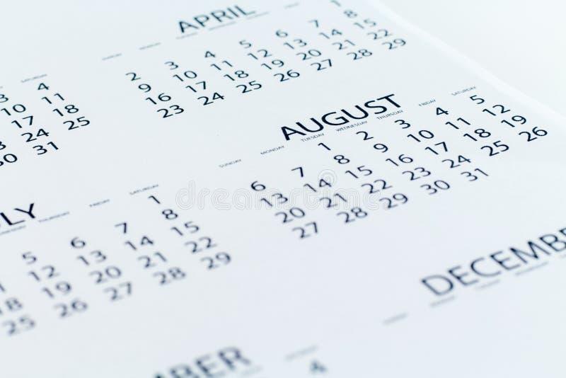 Planejador da data de calendário foto de stock royalty free