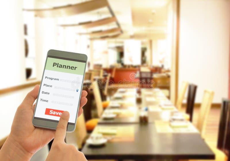 Planejador de Smartphone foto de stock royalty free