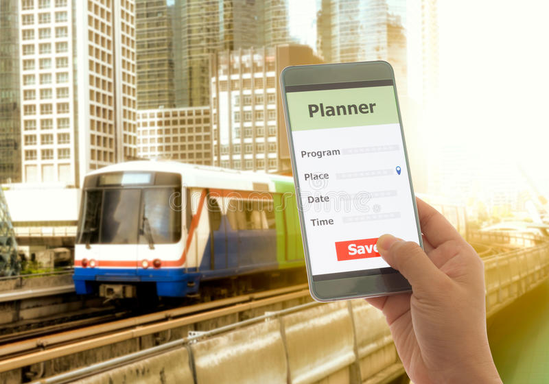 Planejador de Smartphone foto de stock
