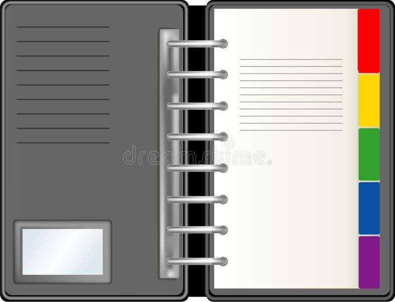 Planejador diário ilustração stock