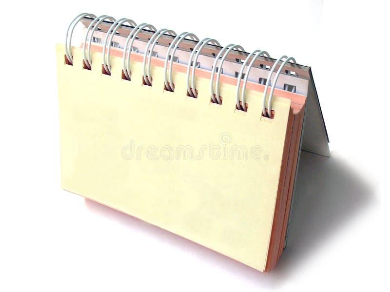 Planejador diário da parte superior de tabela imagem de stock royalty free
