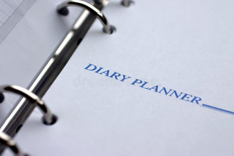 Planejador do diário imagem de stock royalty free