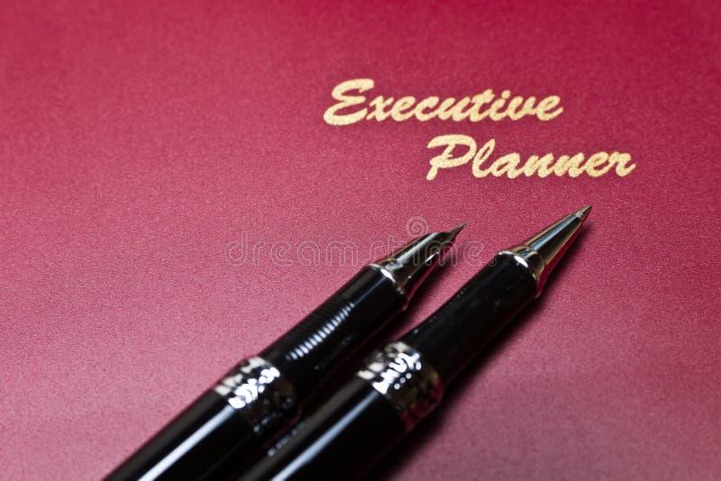Planejador executivo e série IV da pena fotos de stock royalty free