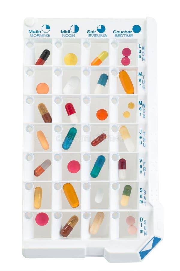 Download Planejador Mensal Dos Comprimidos Com Uma Dose Diária Das Medicamentações Em Cada Pilha Imagem de Stock - Imagem de saúde, recipiente: 65575573