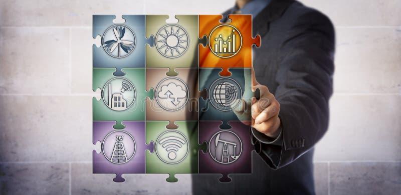 Planejador que controla a gestão de energia esperta imagem de stock