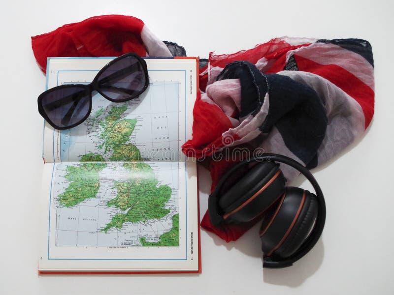 Planejando um curso no Reino Unido fotos de stock