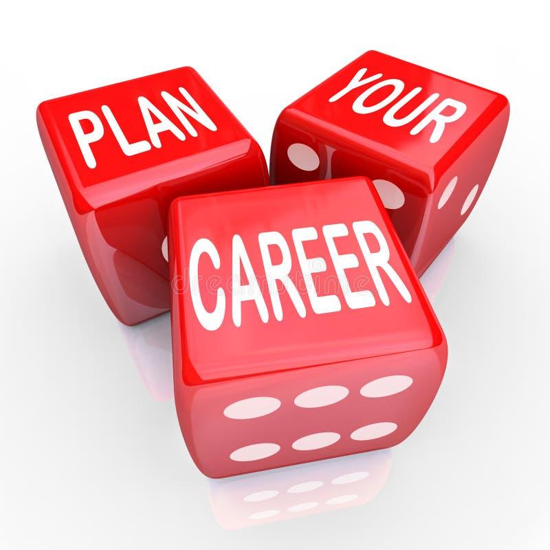 Planen Sie Ihre Karriere-Würfel-Glücksspiel-Zukunft-Gelegenheit stock abbildung