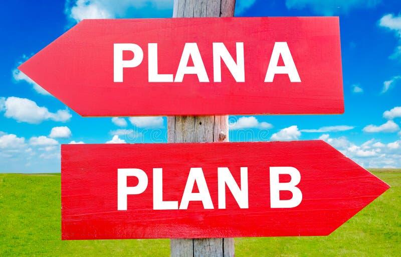 Planen Sie A oder planen Sie B stockfotos