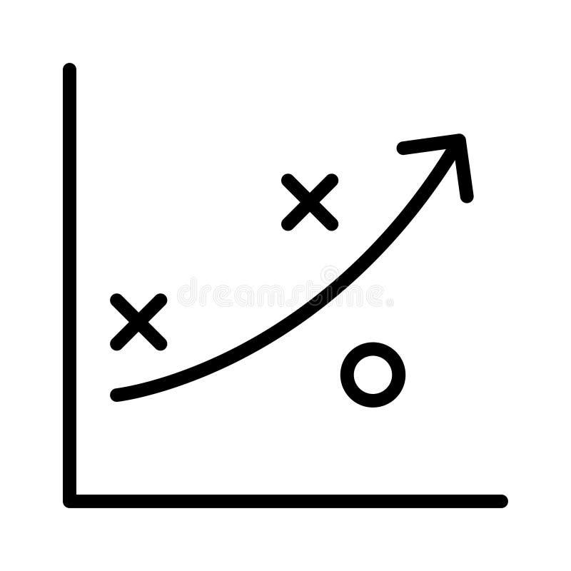 Planende dünne Linie Vektorikone stock abbildung