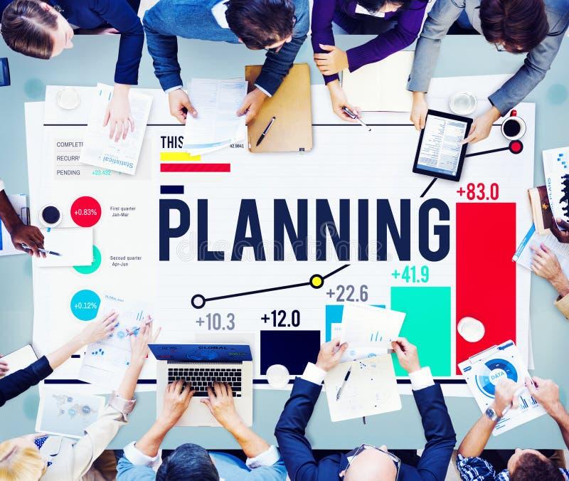 Planera begrepp för strategi för beskickning för planidéanvisningar arkivbilder