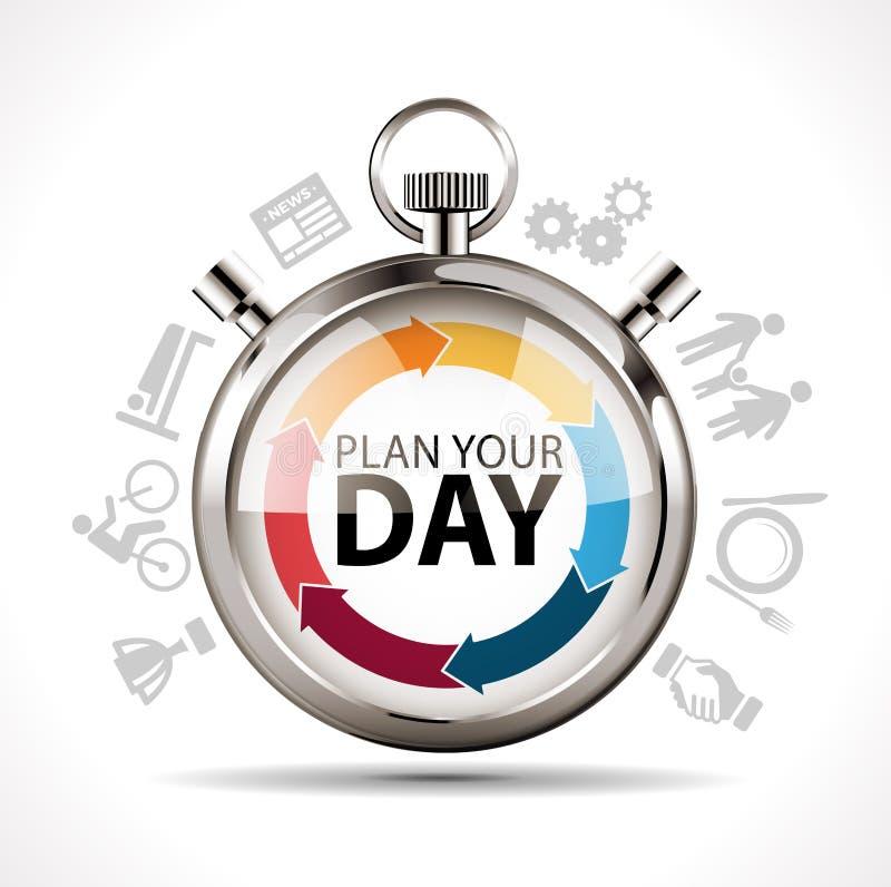 Planera din dag royaltyfri illustrationer
