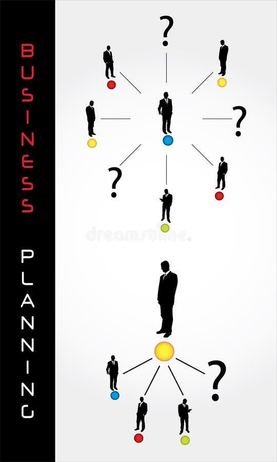 planera för affärselement stock illustrationer