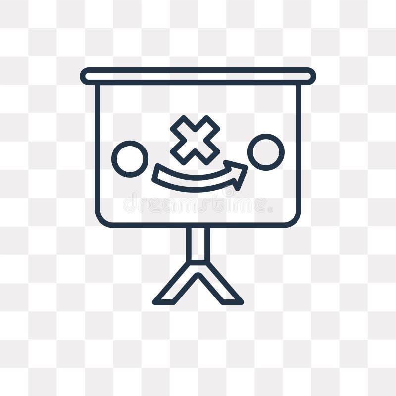 Planera vektorsymbolen som isoleras på genomskinlig bakgrund som är linjär stock illustrationer