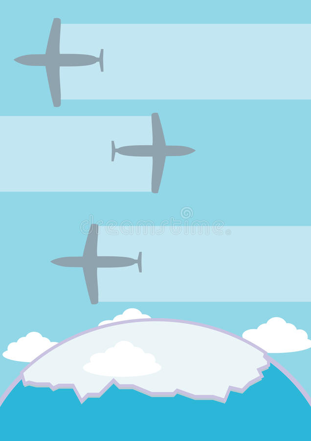 Download Planes stock illustration. Image of clouds, aircraft - 18654945