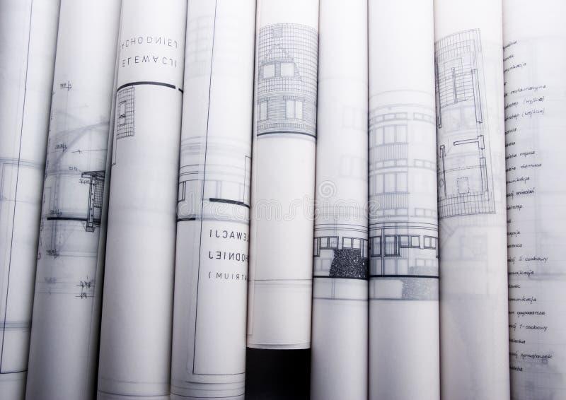 Planes arquitectónicos fotografía de archivo