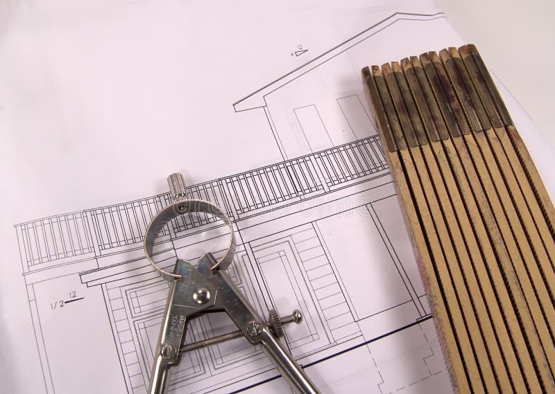 Planes de la casa imágenes de archivo libres de regalías