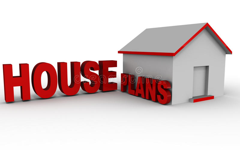 Planes de la casa stock de ilustración